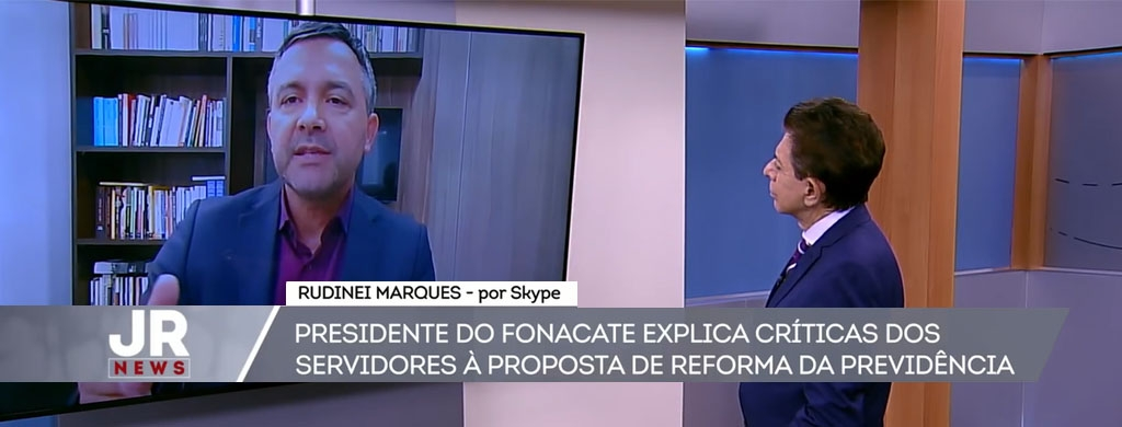 Ao vivo, na Record News, presidente do Unacon Sindical alerta para risco de exclusão previdenciária