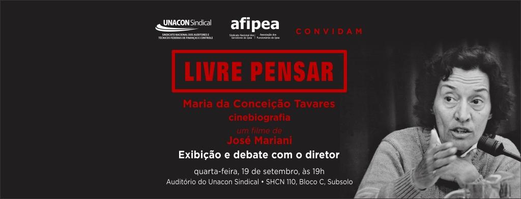 Unacon e Afipea convidam para exibição do documentário sobre Conceição Tavares, em Brasília