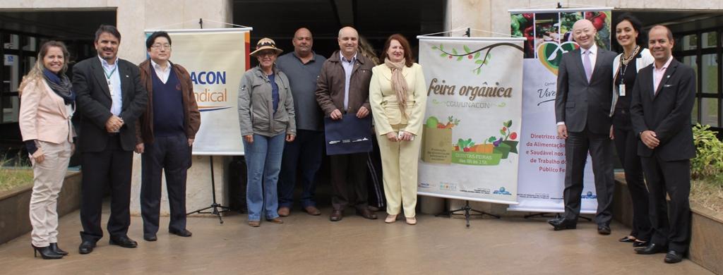 Sindicato participa da inauguração feira orgânica da CGU