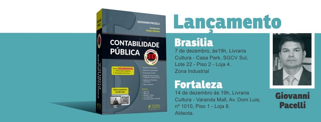 """Doutor em Ciências Contábeis, Giovanni Pacelli publica o livro """"Contabilidade Pública 3D"""""""