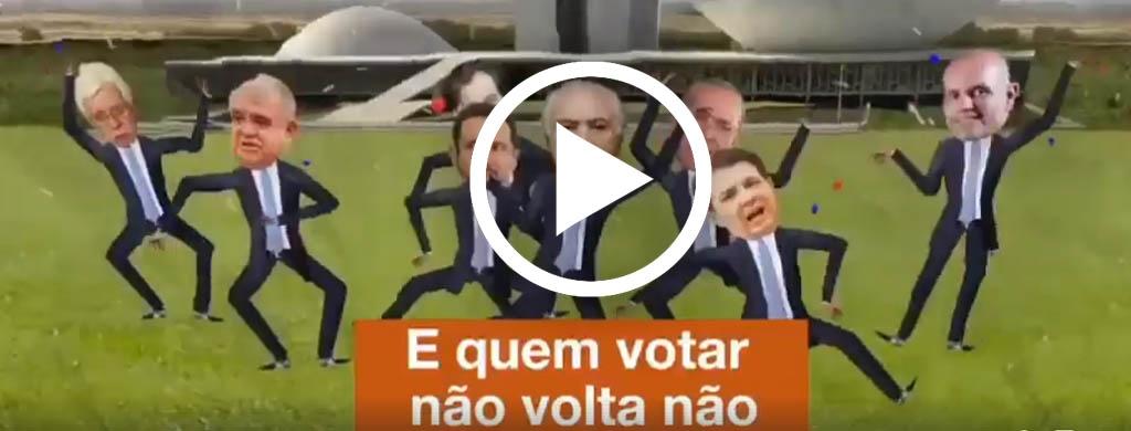 """Marchinha de carnaval do Fonacate alerta os deputados e senadores """"Quem votar não volta não"""""""
