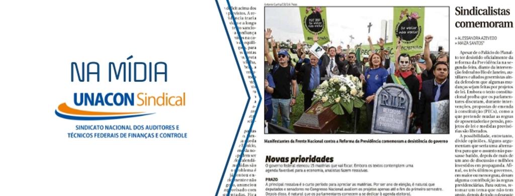 Edição impressa do Correio Braziliense destaca enterro da reforma da Previdência