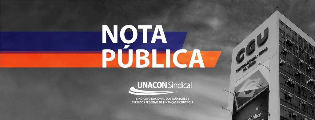 Unacon Sindical expressa repulsa a nota pública da AudTCU