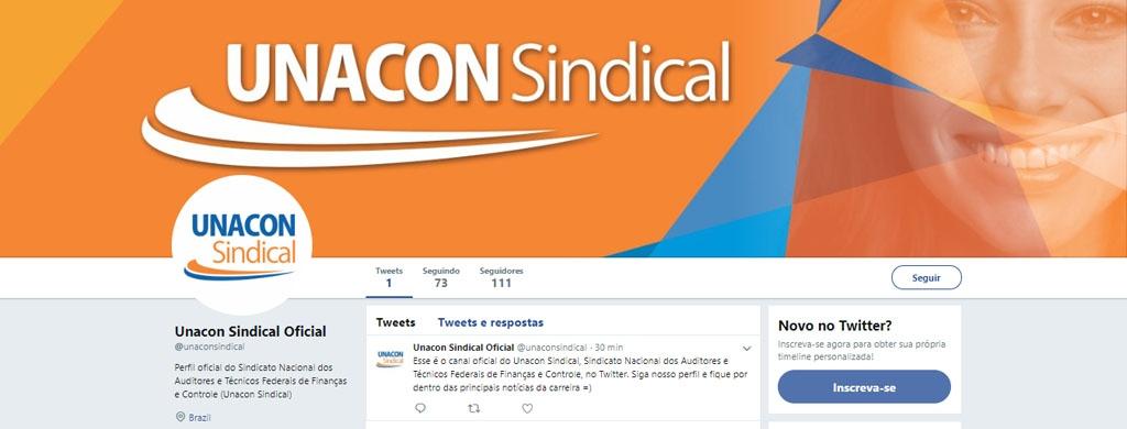 Sindicato reativa conta do twitter; perfil @unaconsindical já tem mais de 100 seguidores
