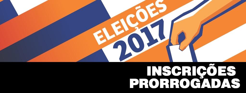Prazo para inscrições de chapas e candidaturas individuais é prorrogado para dia 22 de setembro